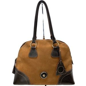 Dooney & Bourke Large Brown Suede and Leather Bag